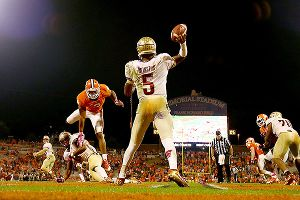 Florida State QB Jameis Winston improved his Heisman chances with 4 total TD against Clemson.