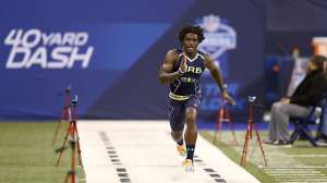 Dri Archer of Kent State ran a 4.26 40 yard dash at the NL Combine. That is the fast 40 since Chris Johnson's 4.24 in 2008.