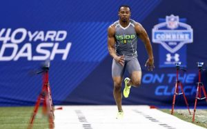 Justin Gilbert ran a 4.37 40 yard dash and could be the first corner taken in the 2014 NFL Draft.