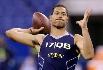 Logan Thomas looked great the 2014 NFL Combine, but he will have to overcome some of the film from this playing days.