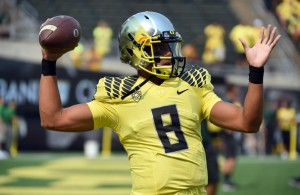 Marcus Mariota started off slow, but got hot in the 3rd quarter to lead his team past Michigan State.