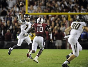 Missouri QB Maty Mauk led the Tigers to a 4th quarter comeback against South Carolina.