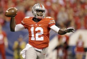 Buckeyes 3rd string QB Cardale Jones threw for 3 touchdowns and led his team to a win over Wisconsin in the Big Ten Championship.