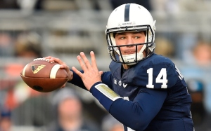 Christian Hackenberg threw for 4 touchdowns to lead Penn State to a comeback victory over Boston College in the Pin Stripe Bowl.