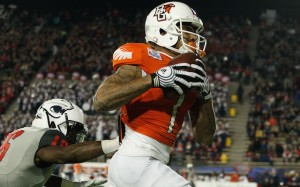 Bowling Green freshman receiver Roger Lewis had TD catches of 44 and 78 yards to lead the Falcons past South Alabama in the Camellia Bowl.