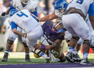 Washington's Danny Shelton is a massive nose tackle that moves better than most players his size.